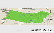 Political Panoramic Map of SALTO, shaded relief outside