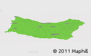 Political Panoramic Map of SALTO, single color outside