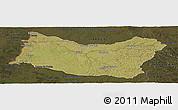 Satellite Panoramic Map of SALTO, darken