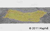 Satellite Panoramic Map of SALTO, desaturated