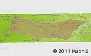 Satellite Panoramic Map of SALTO, physical outside