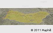 Satellite Panoramic Map of SALTO, semi-desaturated