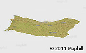 Satellite Panoramic Map of SALTO, single color outside