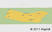 Savanna Style Panoramic Map of SALTO, single color outside