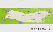Shaded Relief Panoramic Map of SALTO, physical outside