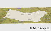 Shaded Relief Panoramic Map of SALTO, satellite outside