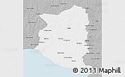 Gray 3D Map of SAN JOSE
