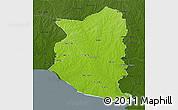 Physical 3D Map of SAN JOSE, darken