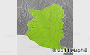 Physical 3D Map of SAN JOSE, desaturated