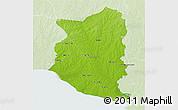 Physical 3D Map of SAN JOSE, lighten