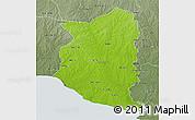 Physical 3D Map of SAN JOSE, semi-desaturated