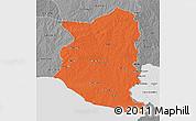 Political 3D Map of SAN JOSE, desaturated