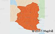 Political 3D Map of SAN JOSE, lighten