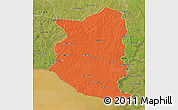 Political 3D Map of SAN JOSE, satellite outside