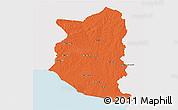 Political 3D Map of SAN JOSE, single color outside