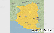 Savanna Style 3D Map of SAN JOSE