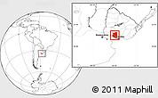 Blank Location Map of SAN JOSE