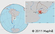 Gray Location Map of SAN JOSE