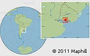 Savanna Style Location Map of SAN JOSE