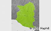 Physical Map of SAN JOSE, desaturated