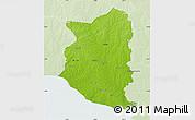 Physical Map of SAN JOSE, lighten