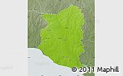 Physical Map of SAN JOSE, semi-desaturated
