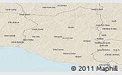 Shaded Relief Panoramic Map of SAN JOSE