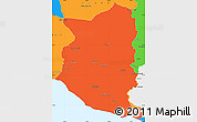 Political Simple Map of SAN JOSE
