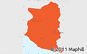 Political Simple Map of SAN JOSE, single color outside