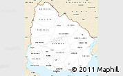 Classic Style Simple Map of Uruguay
