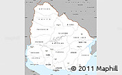 Gray Simple Map of Uruguay