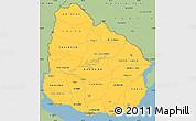 Savanna Style Simple Map of Uruguay