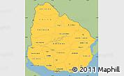 Savanna Style Simple Map of Uruguay, single color outside