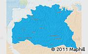 Political 3D Map of SORIANO, lighten