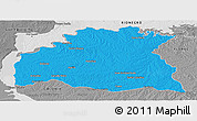 Political Panoramic Map of SORIANO, desaturated