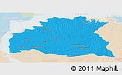 Political Panoramic Map of SORIANO, lighten