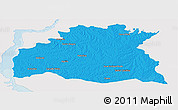 Political Panoramic Map of SORIANO, single color outside