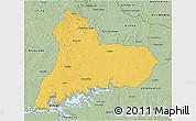 Savanna Style 3D Map of TACUAREMBO