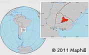 Gray Location Map of TACUAREMBO