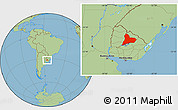 Savanna Style Location Map of TACUAREMBO