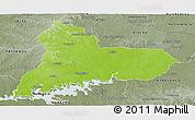 Physical Panoramic Map of TACUAREMBO, semi-desaturated