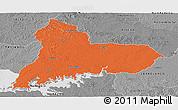 Political Panoramic Map of TACUAREMBO, desaturated