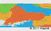 Political Panoramic Map of TACUAREMBO