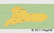 Savanna Style Panoramic Map of TACUAREMBO, single color outside