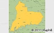 Savanna Style Simple Map of TACUAREMBO