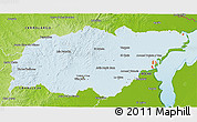 Political Shades 3D Map of TREINTA Y TRES, physical outside