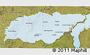 Political Shades 3D Map of TREINTA Y TRES, satellite outside
