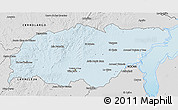 Silver Style 3D Map of TREINTA Y TRES