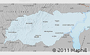 Gray Map of TREINTA Y TRES