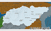 Political Shades Map of TREINTA Y TRES, darken